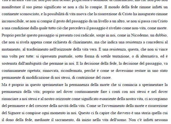 Omelia di Don Francesco Ricci agli universitari: Nicodemo