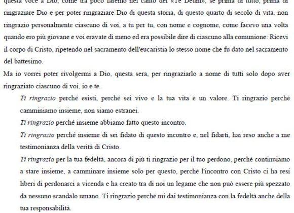 Omelia di Don Francesco Ricci alla comunità di Bologna: Capodanno 1983