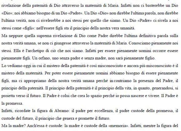 Omelia di Don Francesco Ricci alla comunità di Forlì: Beata Vergine del Rosario