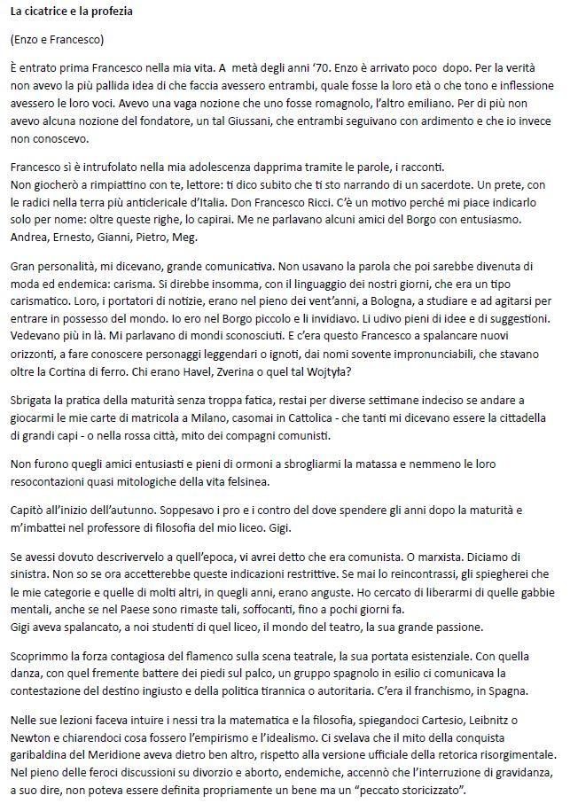 La cicatrice e la profezia (Enzo e Francesco)