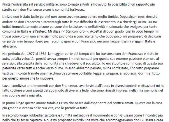 Testimonianza di Riccardo Buscarini